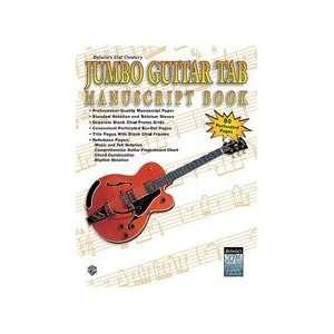 21st Century Jumbo Guitar TAB Manuscript Book Musical