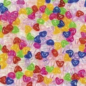 1/2 Lb Of Happy Heart Pony Beads   Art & Craft Supplies