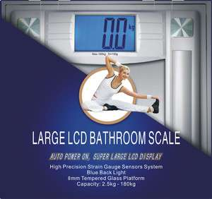 Digital Bathroom Scale 3.5 LCD Diet Calorie Body Weight |