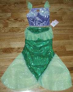 NWT DISNEY WORLD Princess ARIEL Little Mermaid 2PC Fancy Dress