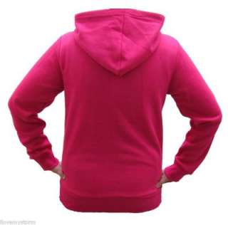 LADIES WOMENS HOODED SWEATSHIRT FULL ZIP HOODIE JACKET UK SIZE XS XL