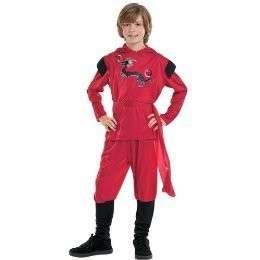 Childs RED DRAGON NINJA Costume ~ Child Sz M 6 8 ~ NEW