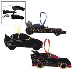 Magic Color Scratch Race Car Ornaments   Craft Kits & Projects & Magic