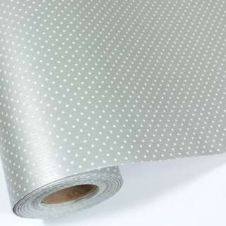 Silver Dot BULK Gift Ream Roll Wrapping Paper 82ft 25M