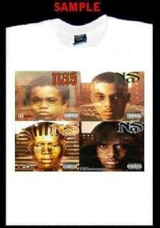 NAS ALBUM COVERS CUSTOM T SHIRT TEE rap hip hop T114