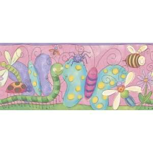 Bug and Butterfly Wall Border in Pink Bug and Butterfly Wall Border