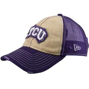 New Era Texas Christian Horned Frogs Purple Natural