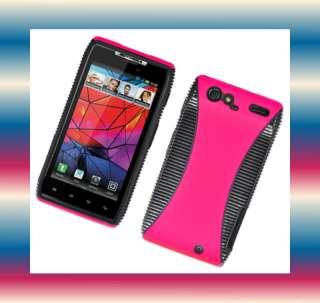 Blk Motorola DROID RAZR XT912 Phone Cover Hard Shell Case Skin