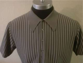 Vintage Striped 60s 50s RAT PACK Italian Mob Lounge Retro MOD Polo