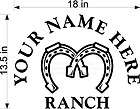 CUSTOM VINYL DECAL YOUR NAME RANCH CATTLE COW HEAD NEW items in