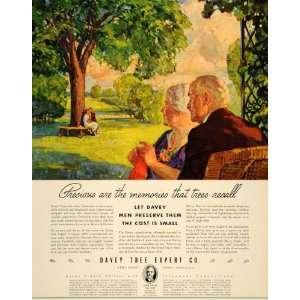 1937 Ad Davey Tree Expert Kent Institute Lawn Care