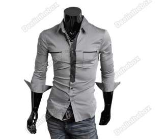 Slim fit Stylish Long Sleeve Shirt Formal Dress Shirts Luxury