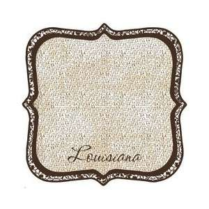 States Collection   Louisiana   12 x 12 Die Cut Paper   State Shape