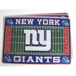 New York Giants Licensed NFL Football Team Themed Placemats   Set Of 6