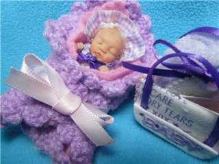 Ooak Mini Baby Girl Polymer Clay Sculpt Realistic Art Doll Extras