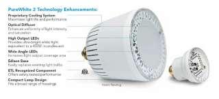 NEW COLOR SPLASH PURE WHITE LED 120V MINI SPA LIGHT