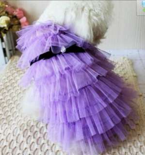 Beautiful Dog Puppy Pet Lace Cake Apparel Clothing dress