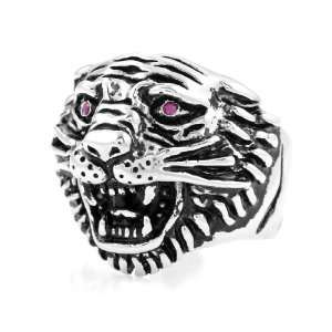 Ed Hardy Authentic Signature Tiger Head Ring Jewelry