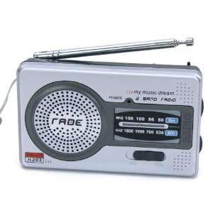 AM FM Pocket Radio 2 Bands Receiver Portable Electronics