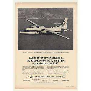 1963 Fairchild F 27 Aircraft Kidde Pneumatic System Print