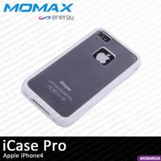 Momax iCase Pro Soft TPU Case Cover Shell iPhone 4 w Screen Protector
