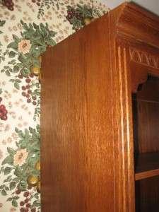 Allen Canterbury Oak Open Bookcase Cabinet Wall Unit 80 Tall