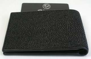 BLACK GENUINE STINGRAY SKIN LEATHER MENS WALLET ~NEW