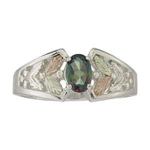 Black Hills Gold Ladies Sterling Silver Mystic Fire Ring