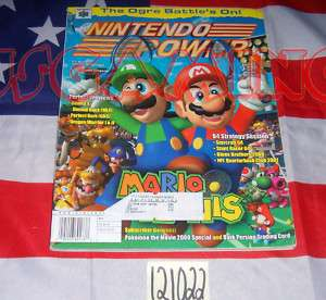 NINTENDO POWER MAGAZINE VOL #135 MARIO TENNIS +POSTER