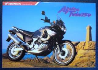 HONDA AFRICA TWIN 750 MOTORCYCLE SALES BROCHURE OCTOBER 1997.