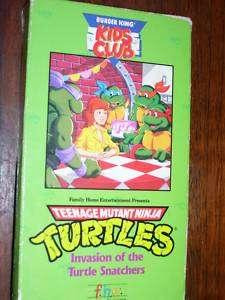 Teenage Mutant Ninja Turtles Invasion of the Turtle (VHS)