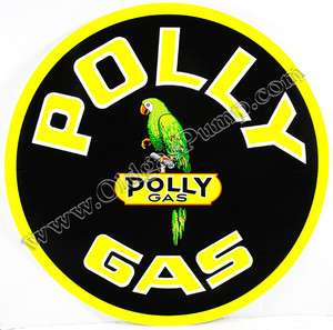 POLLY GASOLINE 2 VINYL GAS & OIL PUMP DECAL DC 206D