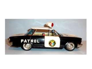 ICHIKO Tin Litho 1960 CHEVROLET CORVAIR POLICE PATROL