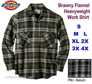 Dickies LONG SLEEVE Flannel Heavyweight plaid Shirt PNU