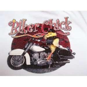 BIKER CHICK~MOTORCYCLE TEE SHIRT SIZE LARGE