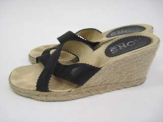 KORS MICHAEL KORS Black Espadrilles Wedges Sandals 10
