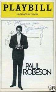 Earl Jones Paul Robeson Signed Opening Night Autograph Playbill
