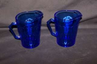 Vintage Lot Of 2 Shirley Temple Blue Pitchers