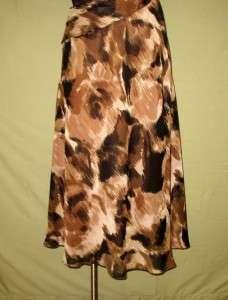 Evan Picone Night Moves Brown & Black Sleeveless Dress 6 NWT