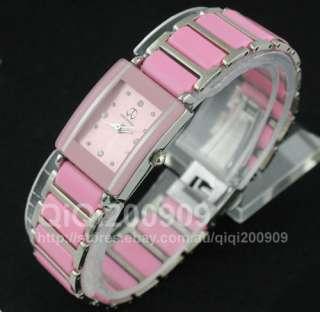 New Fashion Cute Pink Lady Girls Ceramic Band Quartz Wrist Watch