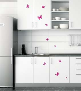 Butterflies Pink Wall Decor Removable Sticker Decals