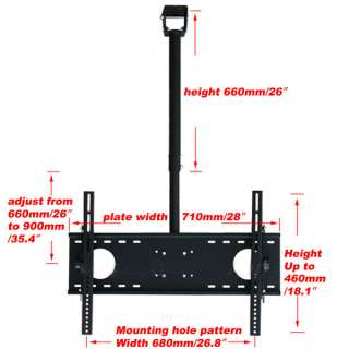 42 43 46 47 50 51 52 55 New Plasma LCD LED Ceiling TV Mount Black b72
