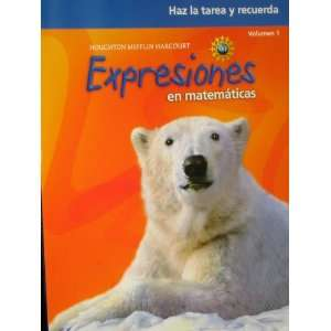 Math Expression, Grade 4 Homework & Remembering Workbook Houghton