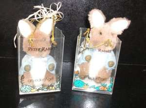 1989   BEATRIX POTTER   x 2 PETER RABBIT TOYS In Small Bags (E4