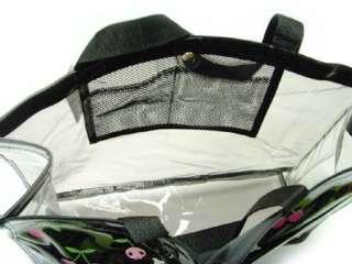 Brand New My Melody KUROMI Clear Tote Plastic Hand Bag BLACK B#41