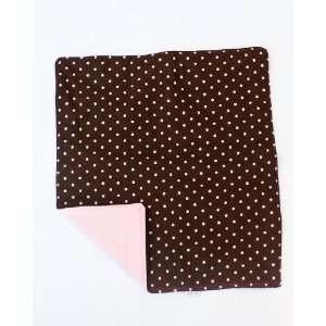 Cydnee Designs Brown and Pink Polka Dot Changing Pad Baby