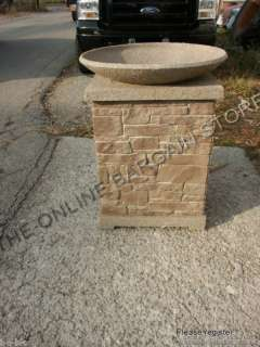 STAND BOWL PROPANE GAS FIREPIT FAUX STONE HEATER $700 27X33