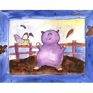 Pig Pen   Poster by Serena Bowman (14x11): Home & Kitchen