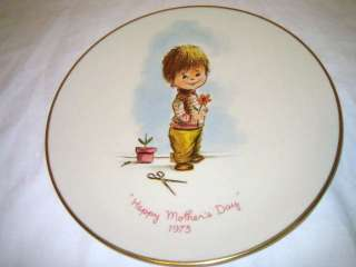 GORHAM 1973 Moppets 1st Ed 1973 Mothers Day Plate w/box