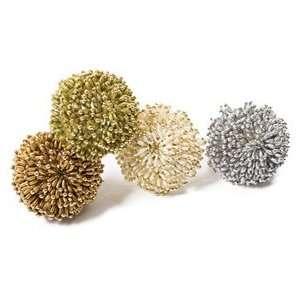 Kim Seybert Oval Bead Burst Set of Four Napkin Rings